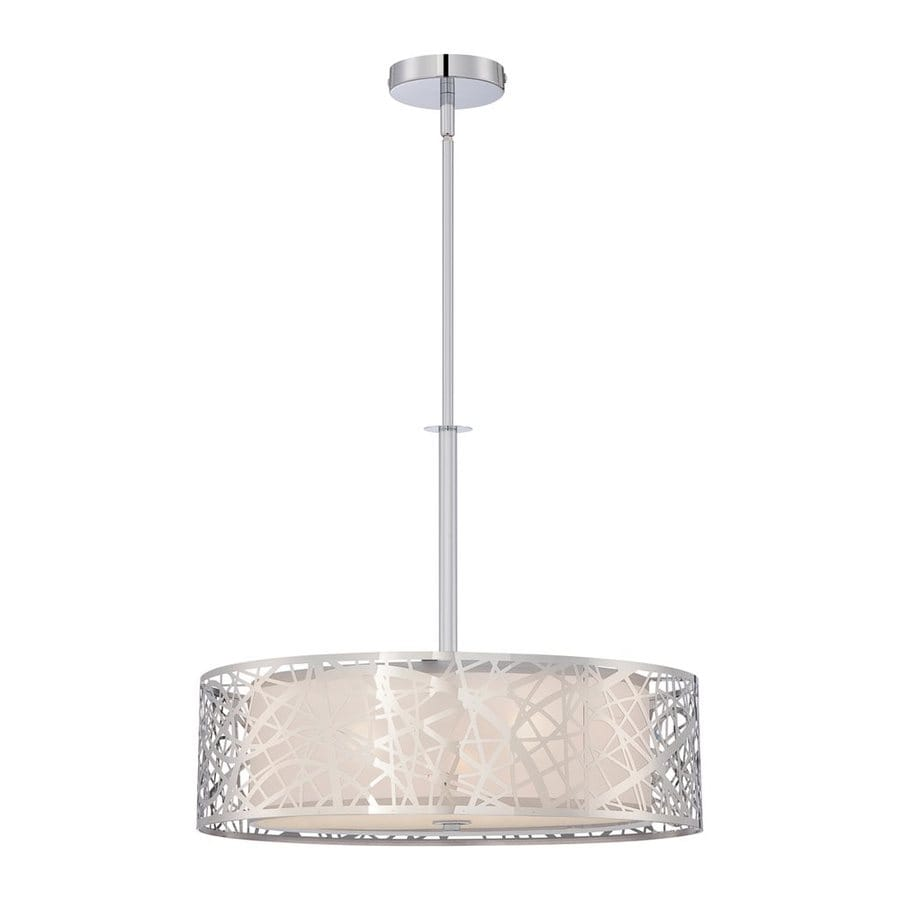 Quoizel Abode 20-in Polished Chrome Single Drum Pendant