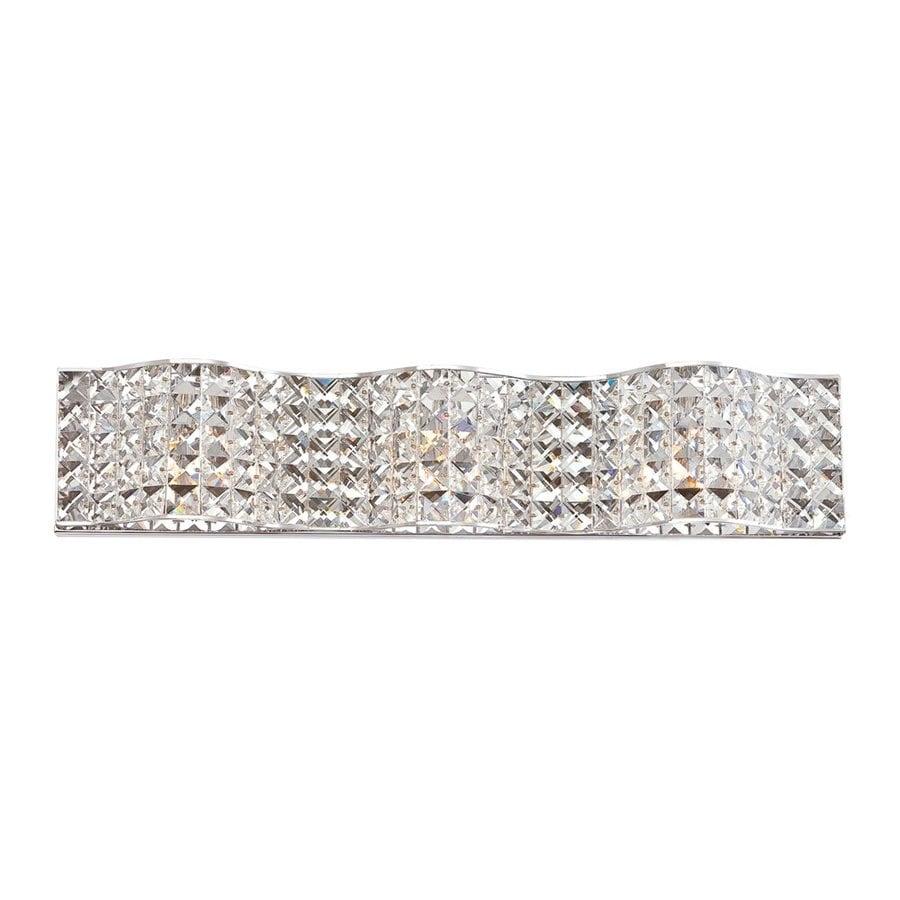 Quoizel Alexa 1-Light 5-in Polished Chrome Rectangle Vanity Light Bar