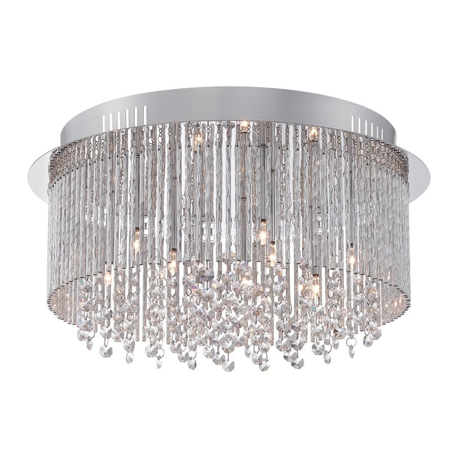 Quoizel Countess 16.5-in W Polished Chrome Crystal Flush Mount Light