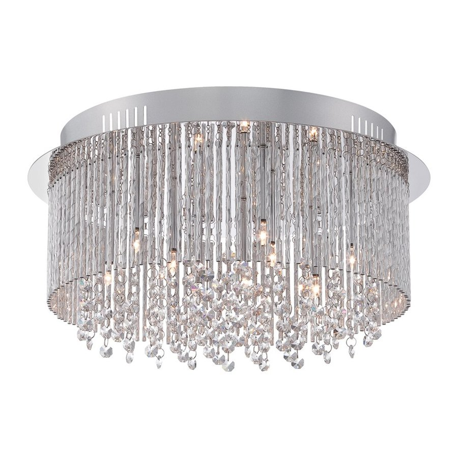 Quoizel Countess 16.5-in W Polished Chrome Crystal Ceiling Flush Mount Light