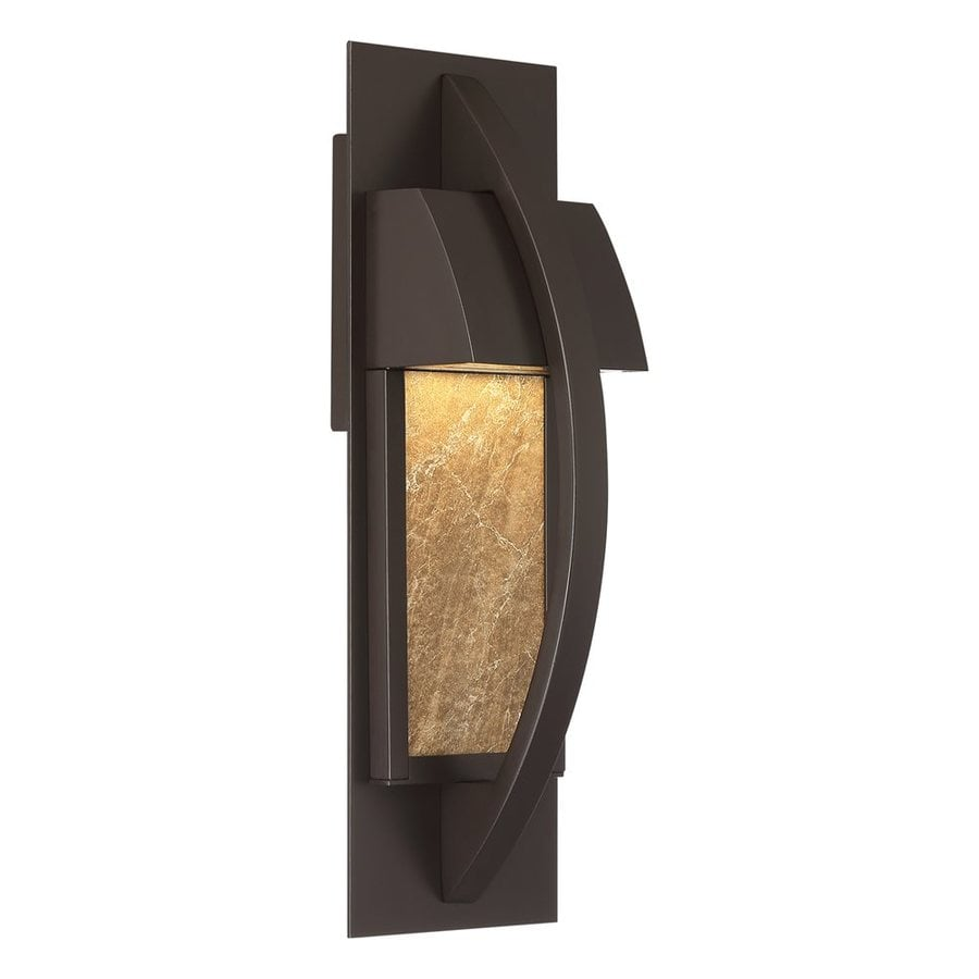 Quoizel Monument 14-in H Led Western Bronze Outdoor Wall Light