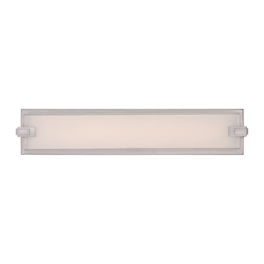 Quoizel Dash 1-Light 4.5-in Brushed Nickel Rectangle LED Vanity Light Bar