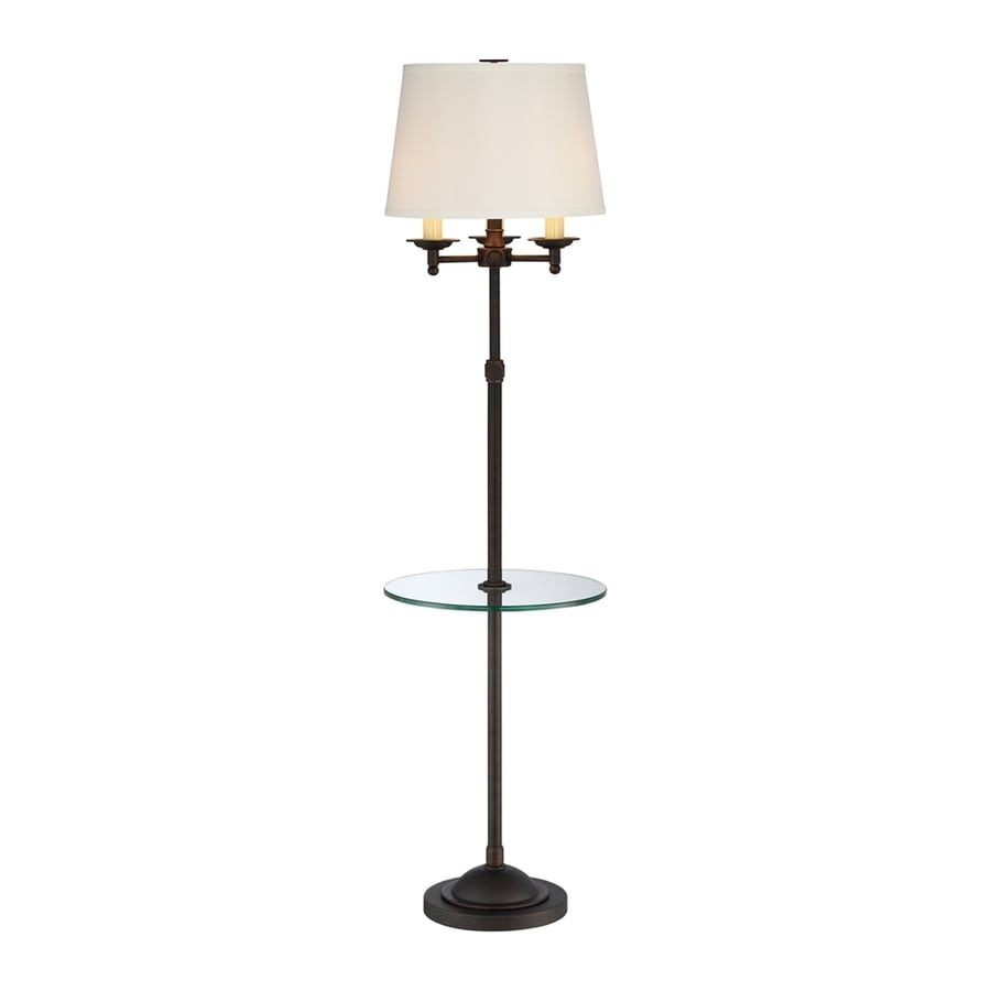 Quoizel Vivid 58.5-in Three-Way Oil-Rubbed Bronze Indoor Floor Lamp with Fabric Shade