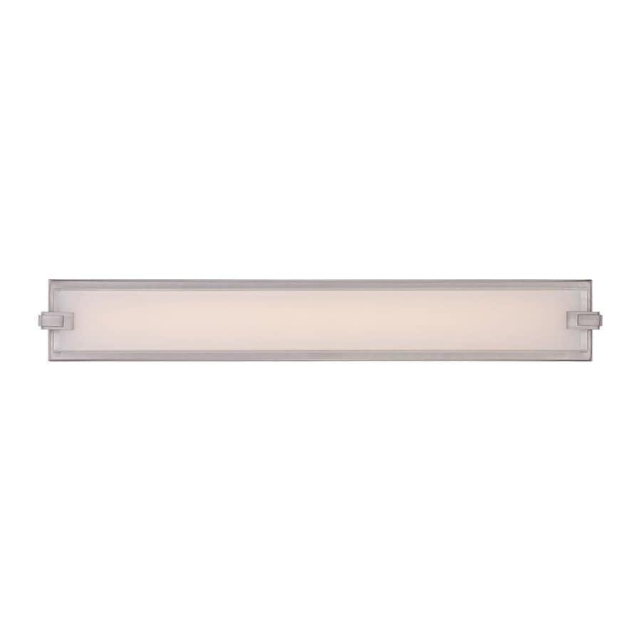 Quoizel Dash 1-Light 4.5-in Brushed Nickel Rectangle LED Vanity Light Bar