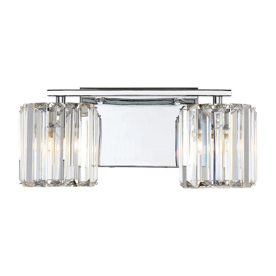 Quoizel Divine 2-Light 6-in Polished Chrome Cylinder Vanity Light