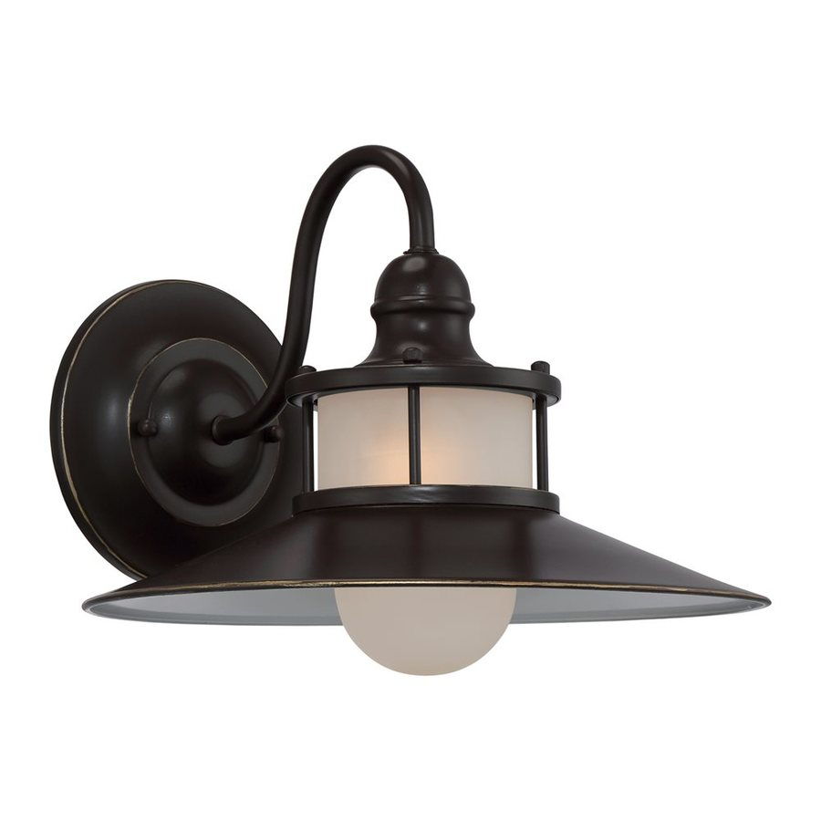 Quoizel New England 11.25-in H Palladian Bronze Outdoor Wall Light