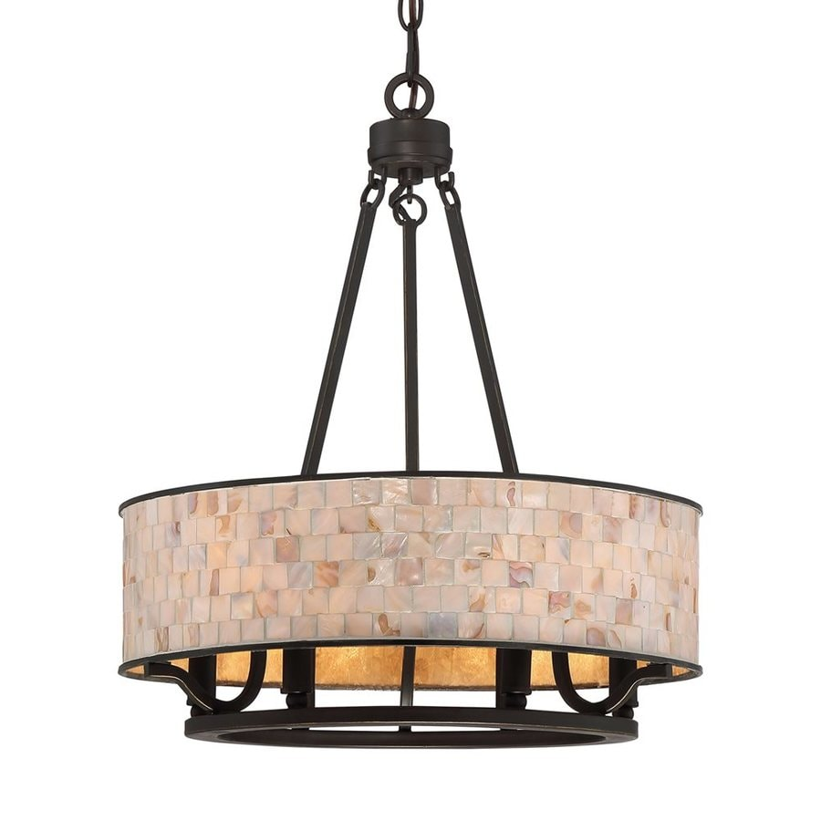 Quoizel Aristocrat 18-in 6-Light Palladian Bronze Drum Chandelier
