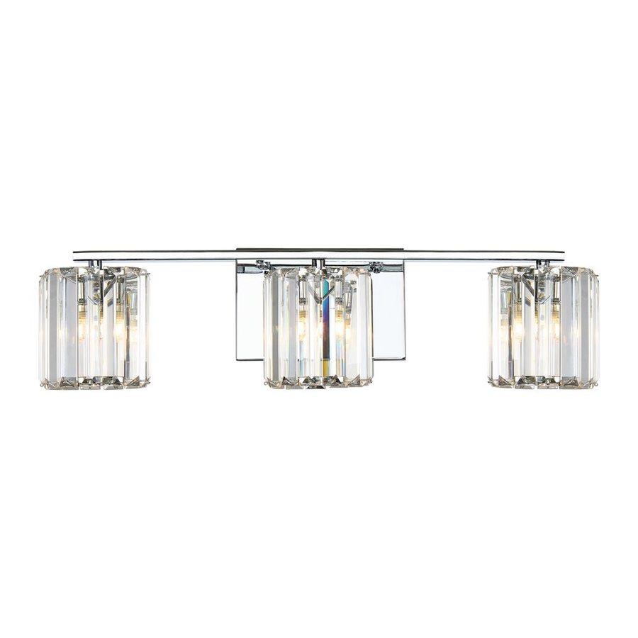 Quoizel Divine 3-Light 6-in Polished Chrome Cylinder Vanity Light