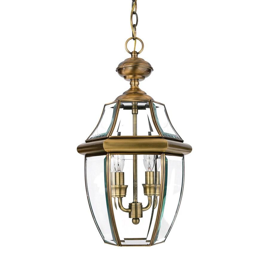 Quoizel Outdoor Lighting Newbury: Quoizel Newbury Antique Brass Traditional Clear Glass