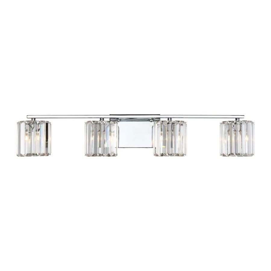 Quoizel Divine 4-Light 6-in Polished Chrome Cylinder Vanity Light