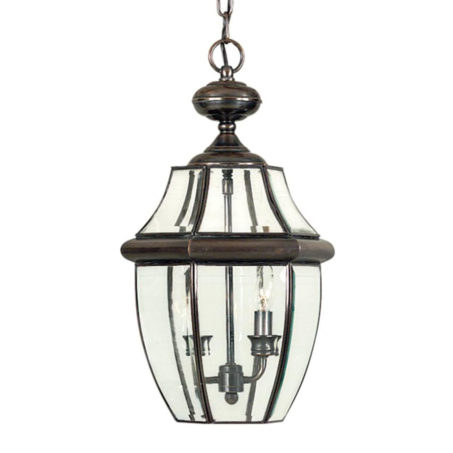 Shop Quoizel Newbury 19 In Aged Copper Outdoor Pendant Light At