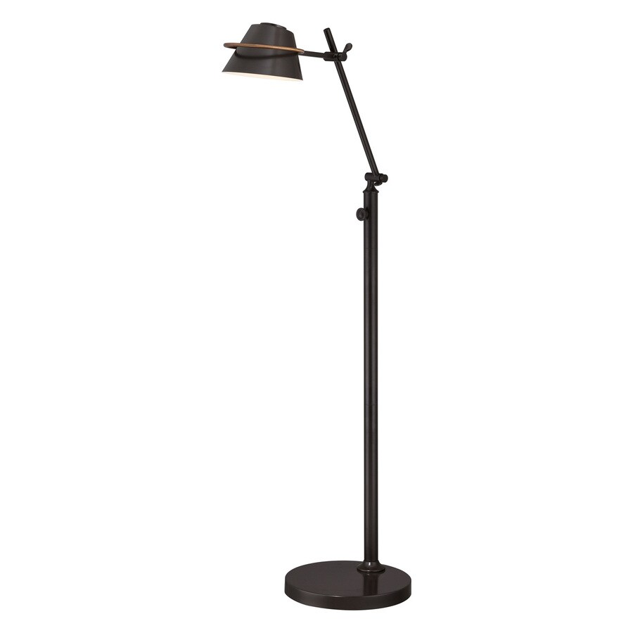 Quoizel Vivid 47.5-in Western Bronze LED Indoor Floor Lamp with Metal Shade