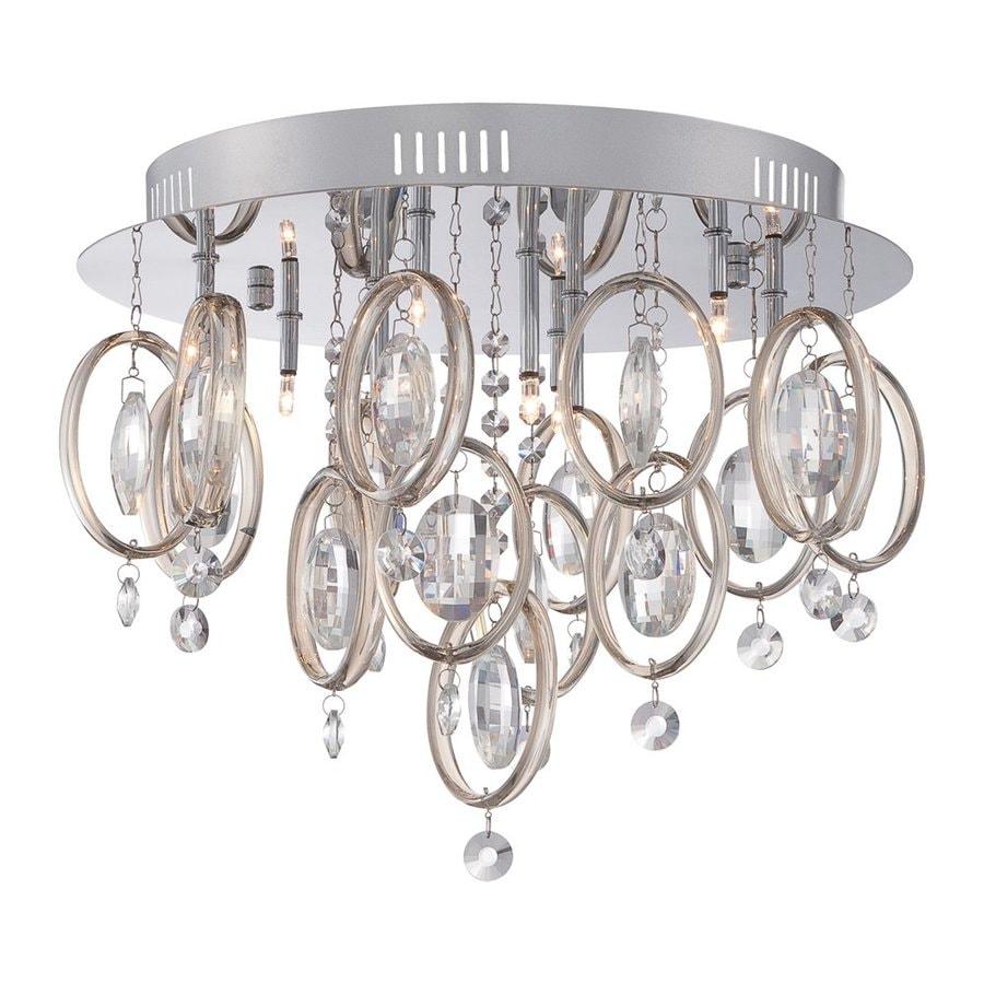 Quoizel Ella 16.5-in W Polished Chrome Crystal Ceiling Flush Mount Light