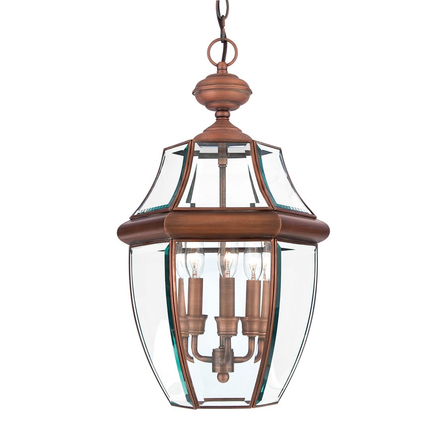 Shop Quoizel Newbury 21 In Aged Copper Outdoor Pendant Light At