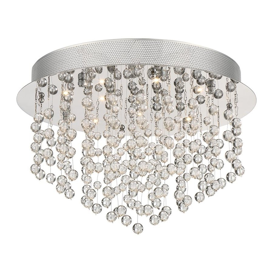 Quoizel Highrise 15.75-in W Polished Chrome Crystal Integrated Led Ceiling Flush Mount Light
