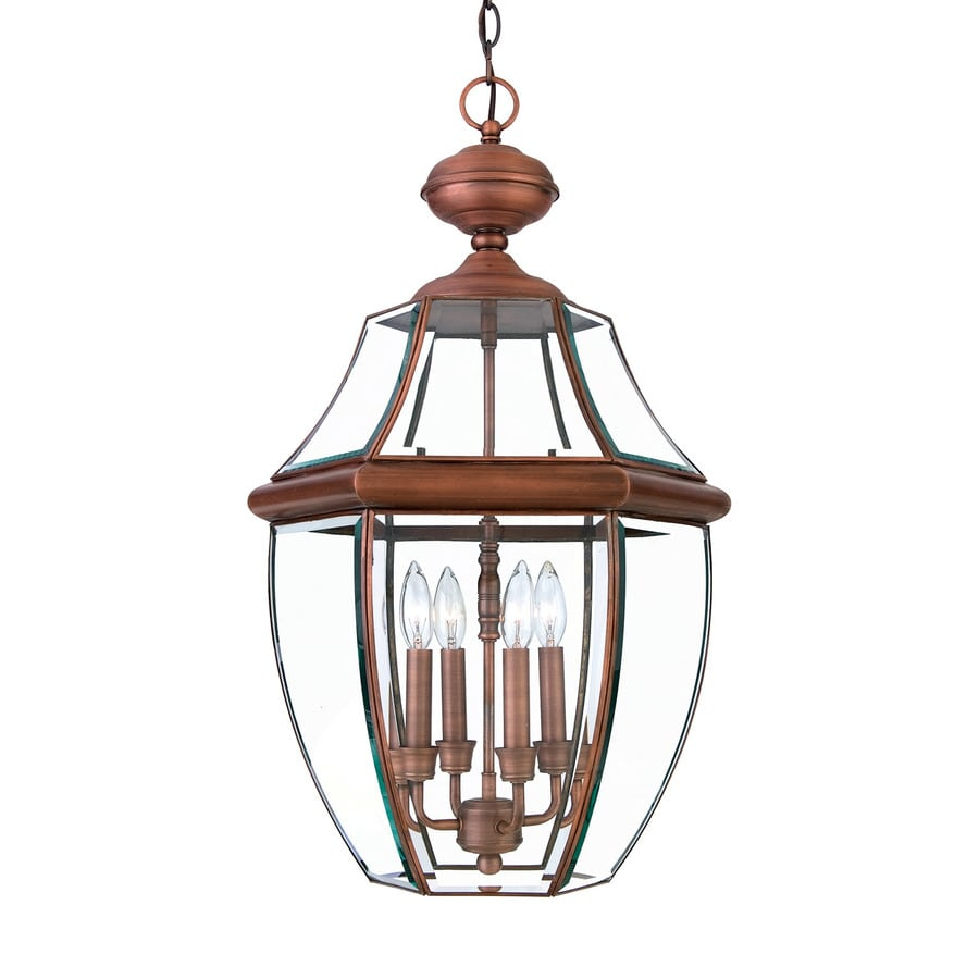 Quoizel Newbury 26.5-in Aged Copper Outdoor Pendant Light