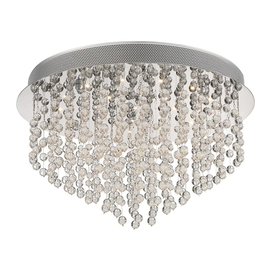 Quoizel Highrise 19.75-in W Polished Chrome Crystal LED Flush Mount Light