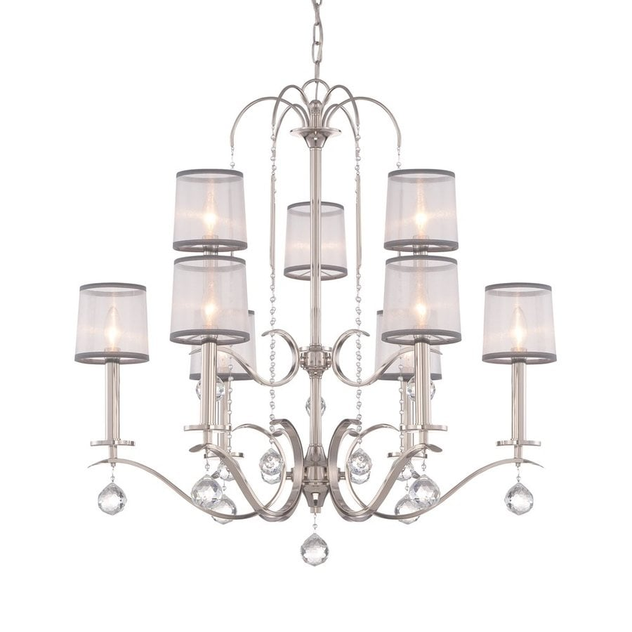 Quoizel Whitney 32-in 9-Light Imperial silver Tiered Chandelier