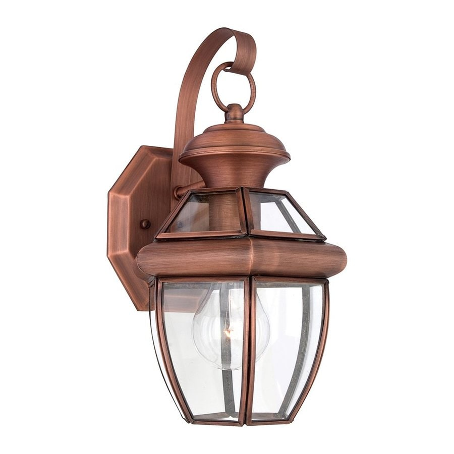 Quoizel Newbury 12.5-in H Aged Copper Outdoor Wall Light