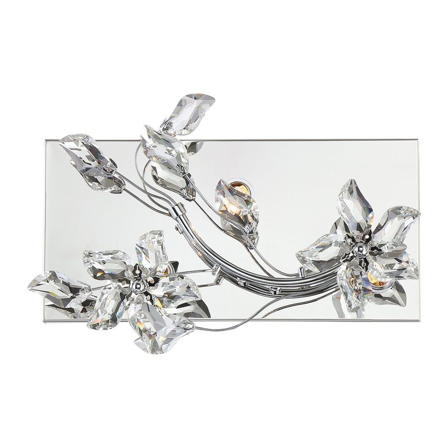 Quoizel Mirabella 1-Light 9.5-in Polished Chrome Rectangle Vanity Light
