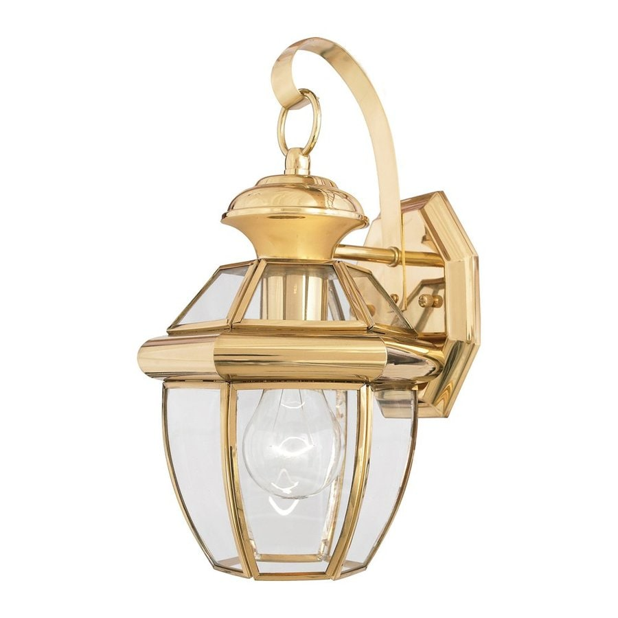 Quoizel Newbury 13-in H Polished Brass Outdoor Wall Light