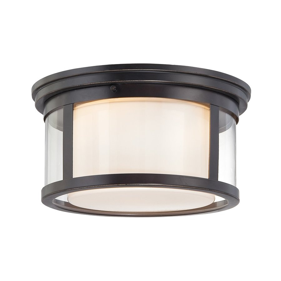 Quoizel Wilson 13-in W Palladian Bronze Flush Mount Light