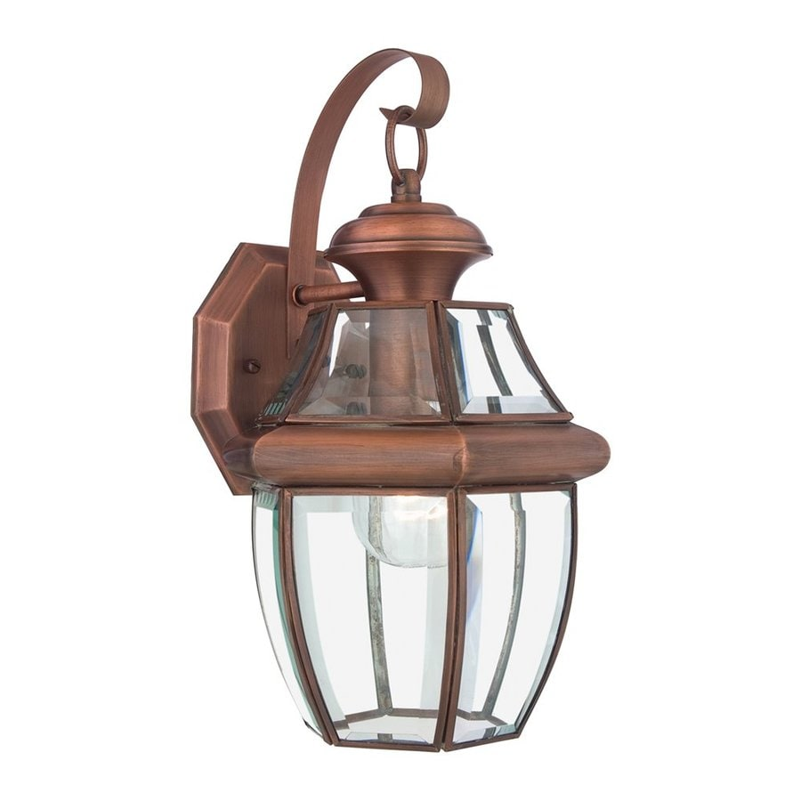 Quoizel Newbury 14-in H Aged Copper Outdoor Wall Light