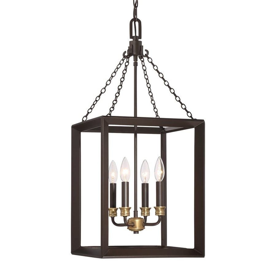 Quoizel Brook Hall 13-in Western Bronze Single Cage Pendant