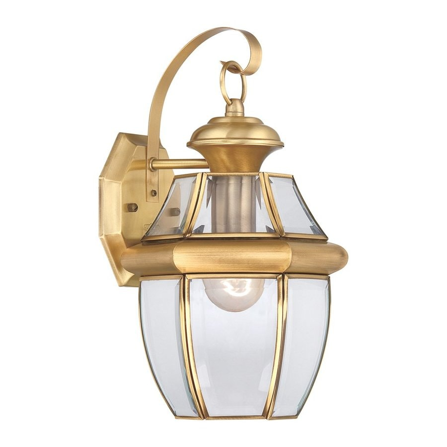 Quoizel Newbury 1-in H Polished Brass Outdoor Wall Light