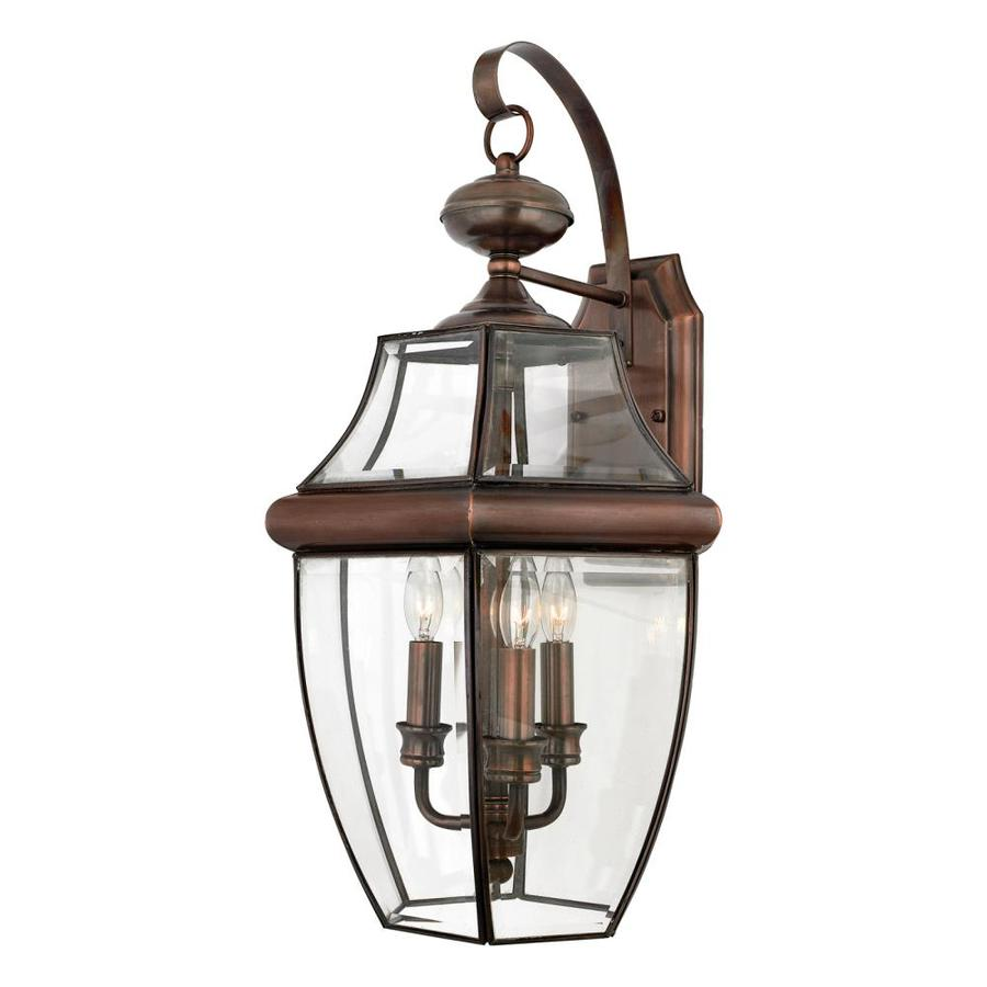 Quoizel Newbury 22.5-in H Antique Brass Outdoor Wall Light