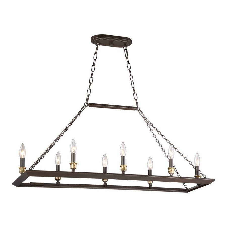 Shop Quoizel Brook Hall In W Light Western Bronze Kitchen - Western kitchen light fixtures