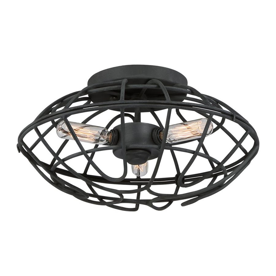 Quoizel Bound 13.25-in W Royal Ebony Ceiling Flush Mount Light