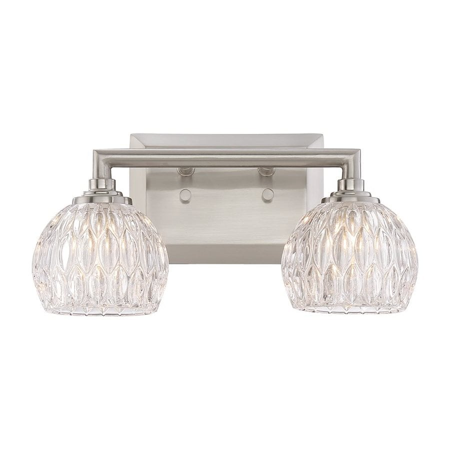 Quoizel Serena 2-Light 6.25-in Brushed nickel Bowl Vanity Light