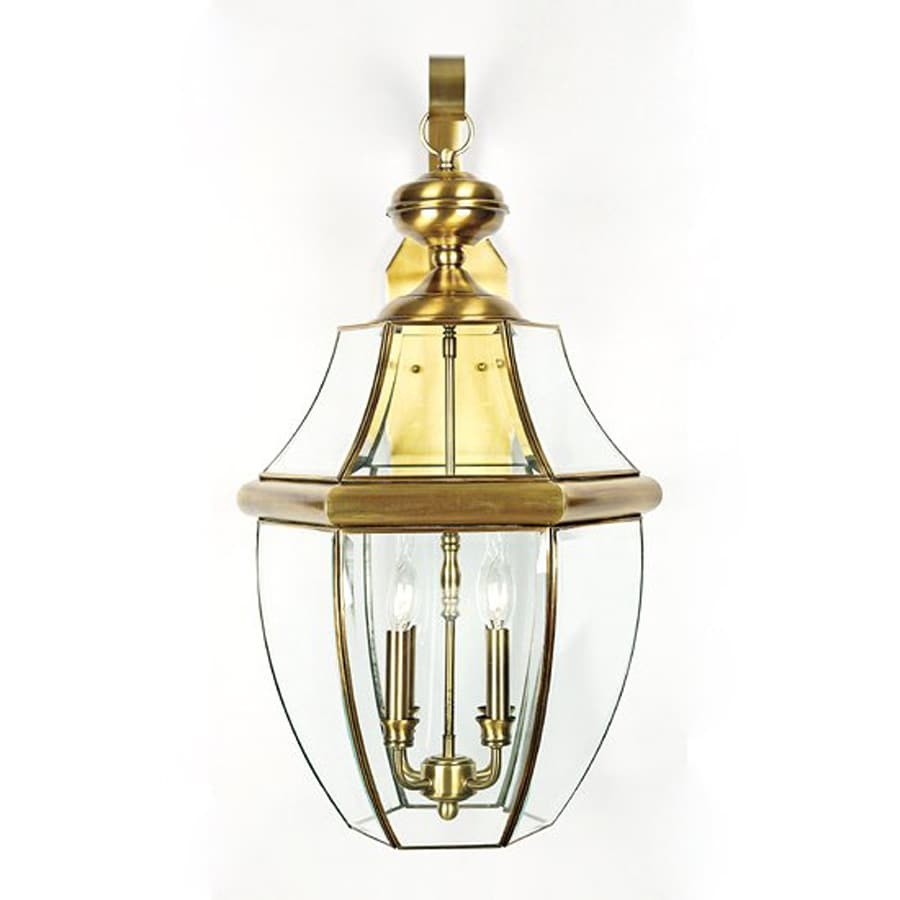 Quoizel Newbury 29-in H Antique Brass Outdoor Wall Light