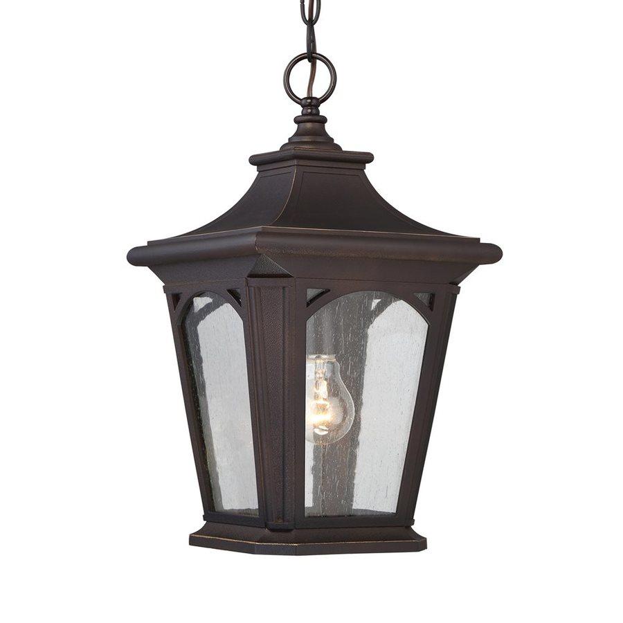 Quoizel Bedford 18-in Palladian Bronze Outdoor Pendant Light