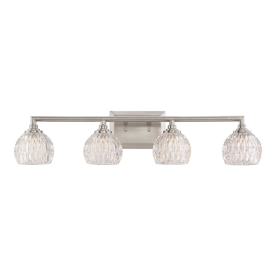 Quoizel Serena 4-Light 6.25-in Brushed Nickel Bowl Vanity Light