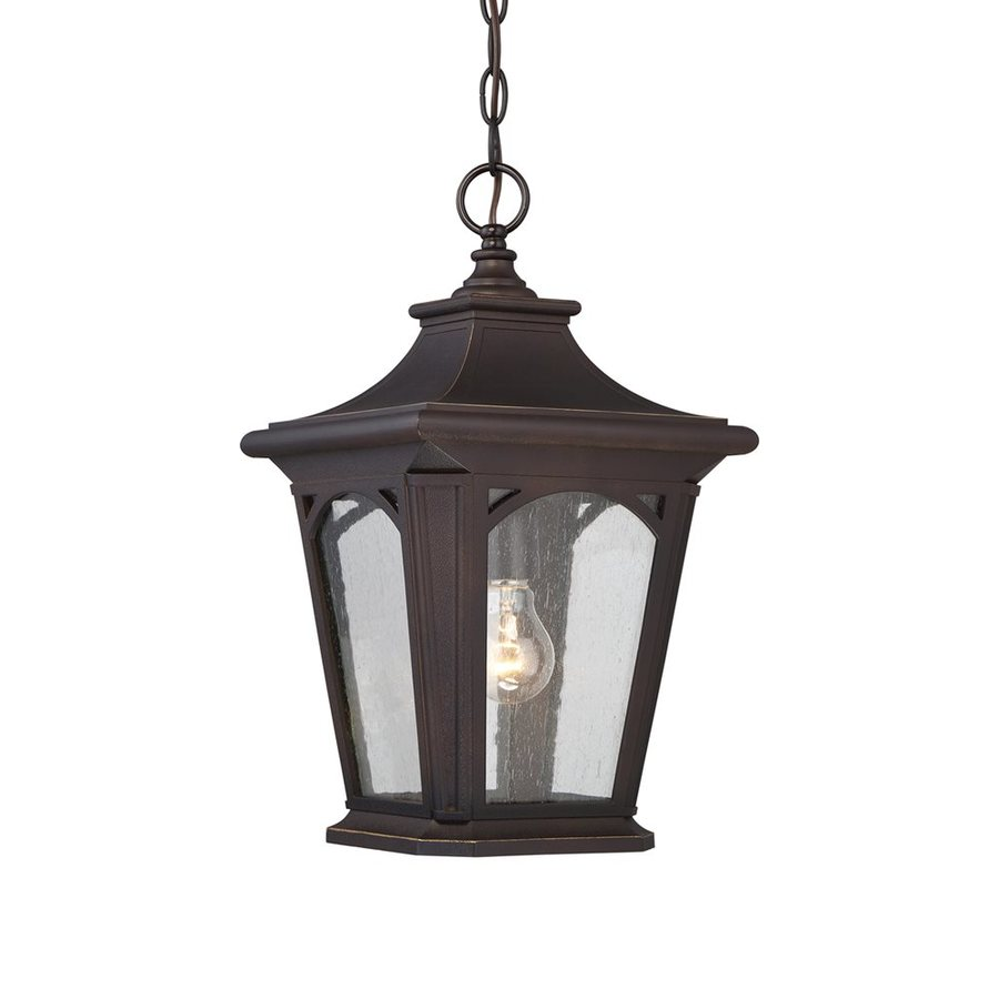 Quoizel Bedford 18-in Palladian Bronze Outdoor Pendant Light