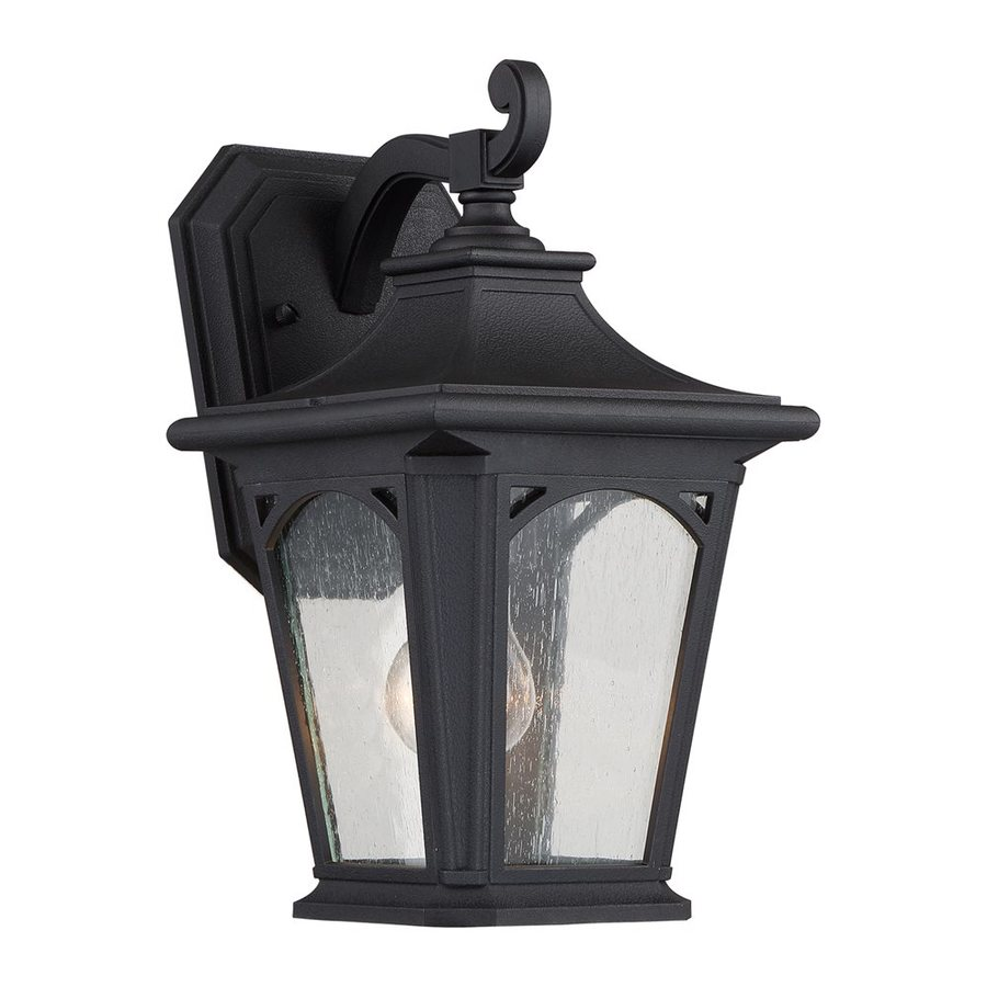 Quoizel Bedford 12.75-in H Mystic Black Outdoor Wall Light