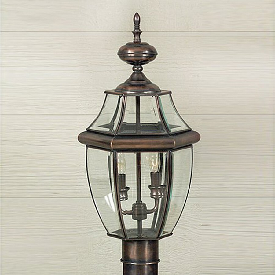 Quoizel Newbury 21-in H Aged Copper Post Light