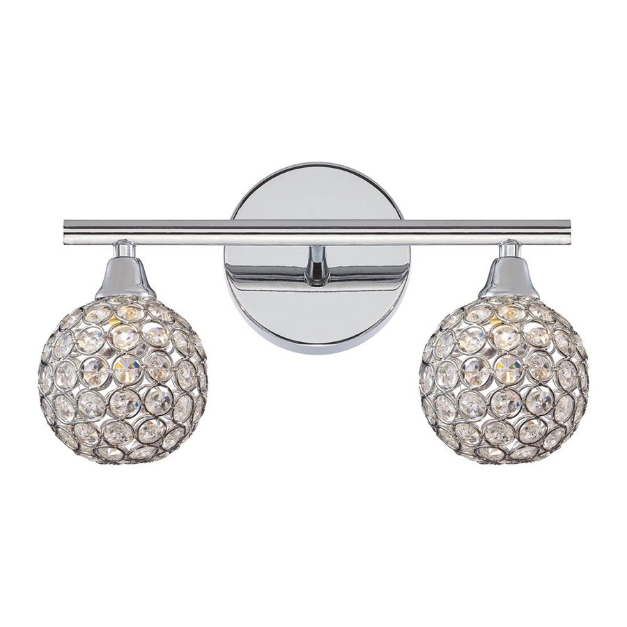 Shop Quoizel Shimmer 2-Light 8-in Polished Chrome Globe Vanity Light at Lowes.com