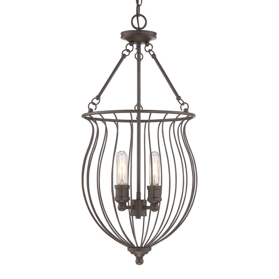 Quoizel Baroness 14.75-in Western Bronze Industrial Single Cage Pendant
