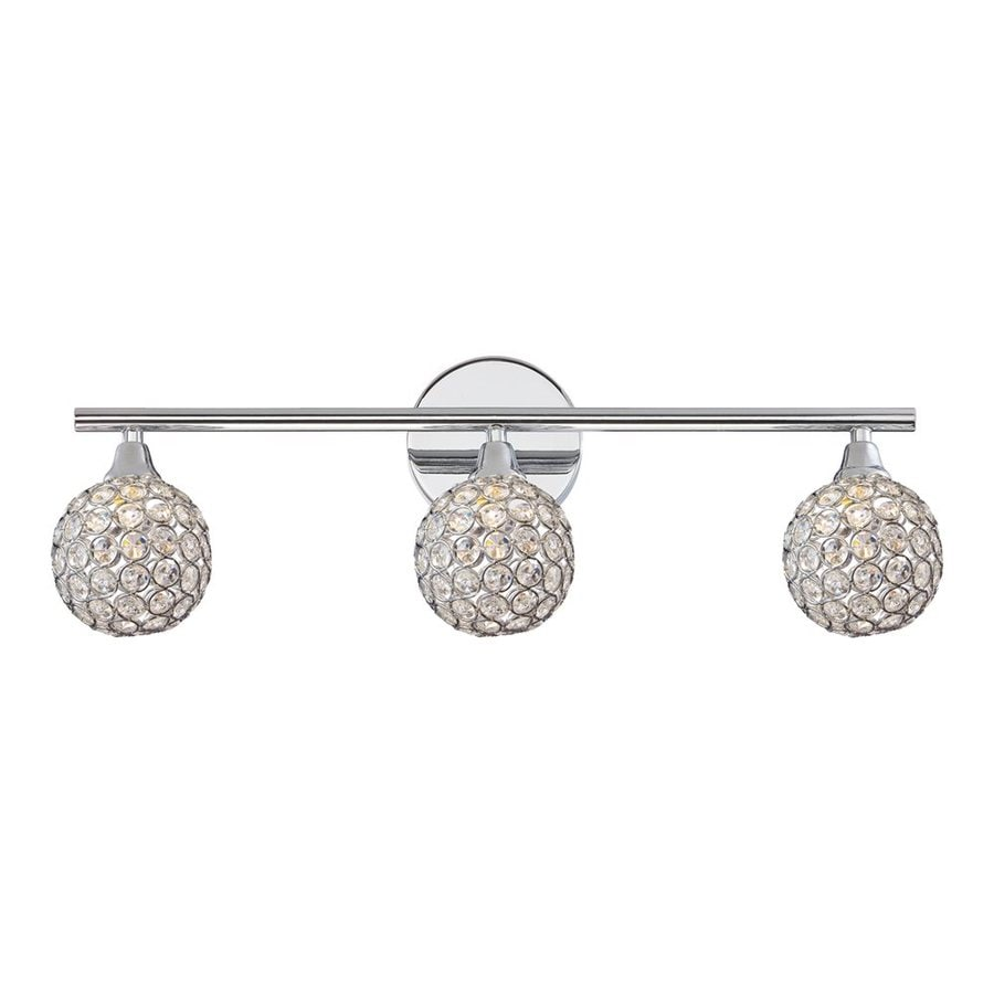 Quoizel Shimmer 3-Light 8-in Polished Chrome Globe Vanity Light