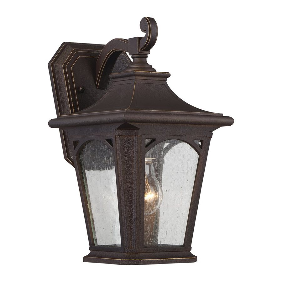 Quoizel Bedford 12.75-in H Palladian Bronze Outdoor Wall Light
