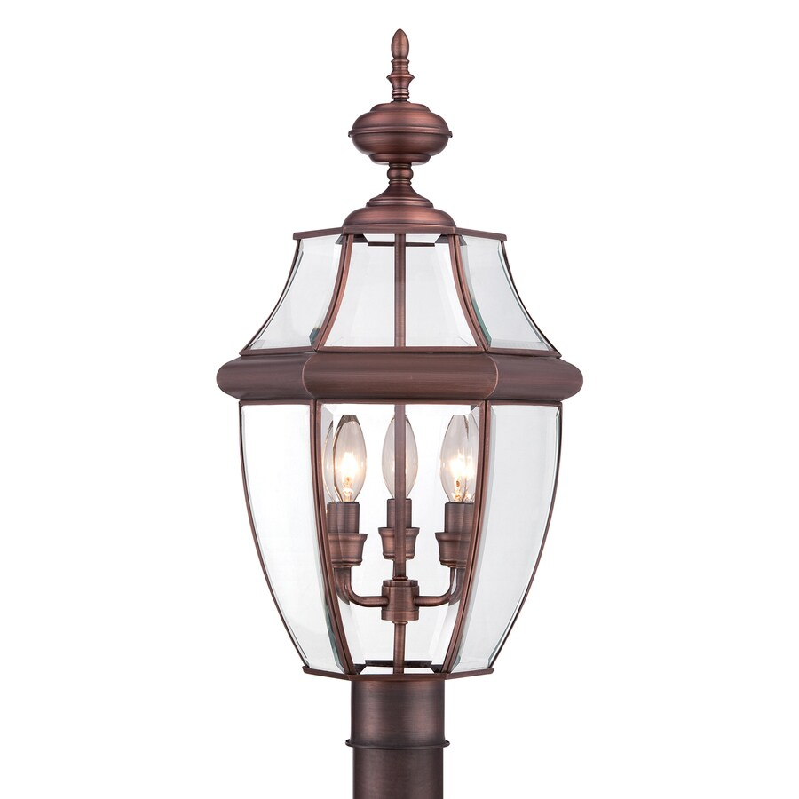 Quoizel Newbury 23-in H Copper Post Light