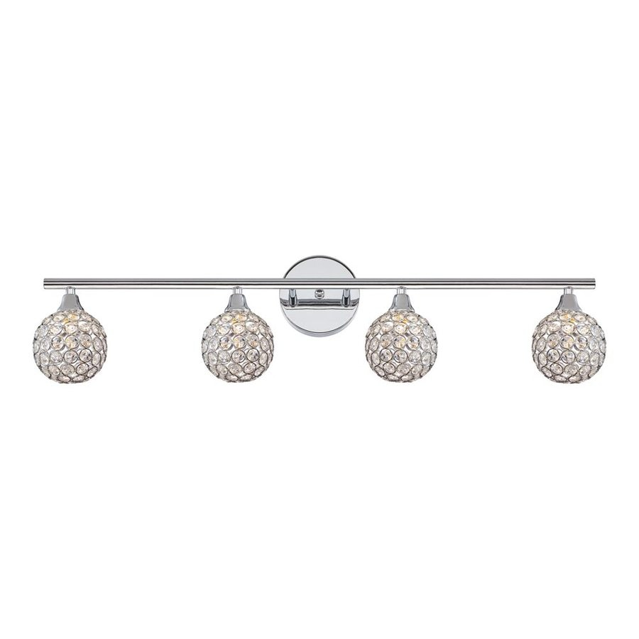 Quoizel Shimmer 4-Light 8-in Polished Chrome Globe Vanity Light