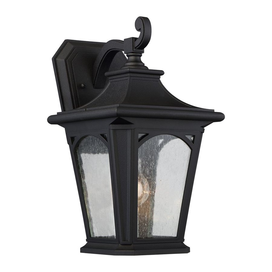 Quoizel Bedford 15.5-in H Mystic Black Outdoor Wall Light