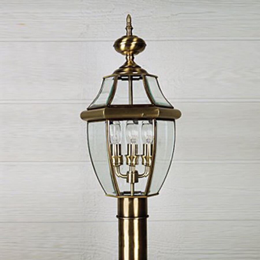 Quoizel Newbury 29.5-in H Antique Brass Post Light