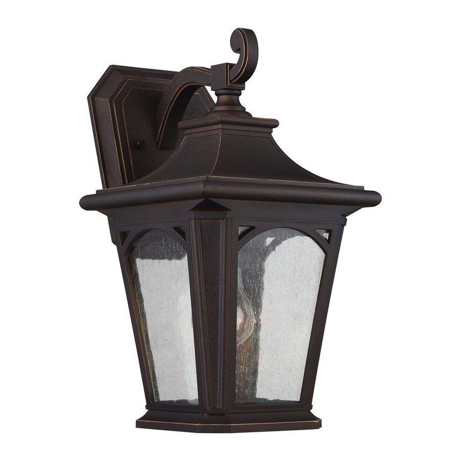 Quoizel Bedford 15.5-in H Palladian Bronze Outdoor Wall Light