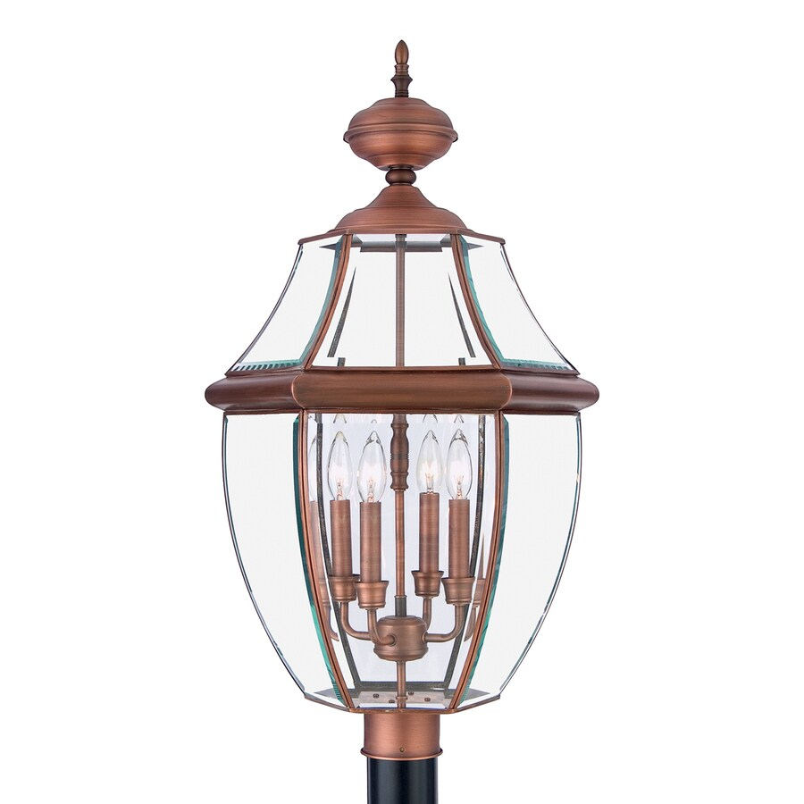 Quoizel Newbury 29.5-in H Aged Copper Post Light