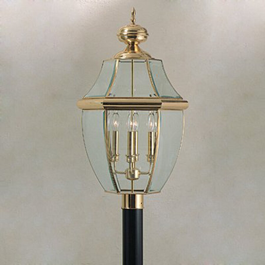 Quoizel Newbury 29.5-in H Polished Brass Post Light